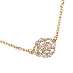 Kate Spade • Gold Crystal Rose Pavè Bracelet